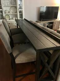 this sofa back bar table is a classy