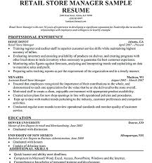 Examples Of Retail Resumes Awesome Store Manager Resume Examples Store Manager Resume Sample Resume Com