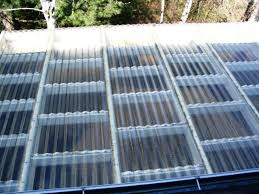 clear corrugated roofing idea
