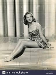 The American actress Joan Fulton aka Joan Shawlee wearing a short ...