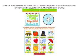 Number Of The Week Flip Chart Calendar Time Sing Along Flip Chart Cd 25 Delightful Songs