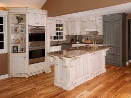 Contemporary Decoration Distressed White Kitchen Cabinets Painting Beauty