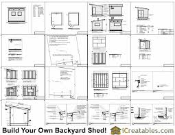 office shed plans. 10x12 Modern Shed Plans Office H