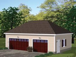 078g 0007 3 car garage plan with hip roof