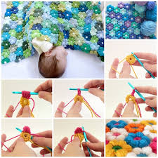 Super-Soft 6 Petal Flower Baby Blanket With Free Pattern & VIEW IN GALLERY crochet 6 petal baby blanket. F2 Adamdwight.com