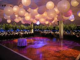 DIY Decor For Over Dance Floor : wedding ceiling decor draping paper  lanterns reception reception decor
