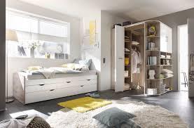 Ausziehbett Eckkleiderschrank Bett 90cm Einzelbett Schlafzimmer