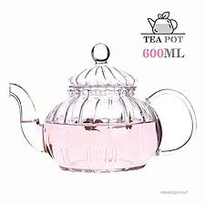 glass teapot with removable infuser heat resistant elegant clear transpa pumpkin tea pot glass infuser