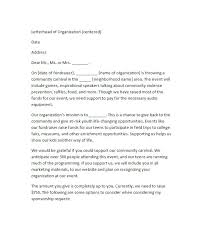 Printable Sponsorship Letter Template Sample Requesting Funding ...