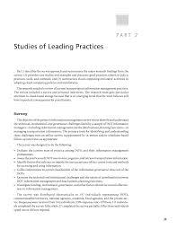 Part 2 Studies Of Leading Practices Improving Management
