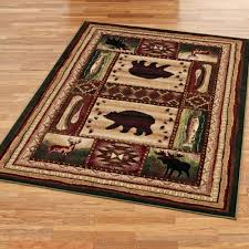 bear wilderness rectangle rug multi warm