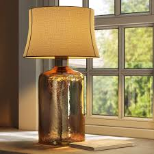 pottery barn clift glass table lamp base espresso d model max