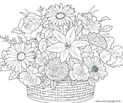Simple Flowers Coloring Pages Betterfor