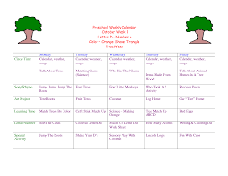 October Weekly Calendar Toddler Lesson Plans For October Preschool Weekly Calendar Week