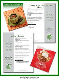 Recipe Page Layout Sample Page Layouts For Squeaky Gourmet Marla Meridith