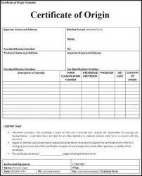Letter Of Origin Certificate Of Origin Template A To Z Templates Free Certificate