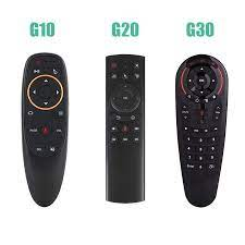 G10/G20/G30 Thoại Điều Khiển Từ Xa 2.4G Không Dây Chuột Micro Con Quay Hồi  Chuyển IR Học Tập Cho H96MAX Tivi hộp Android Vs G50S Remote Controls