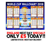 World Cup Wall Chart Products For Sale Ebay