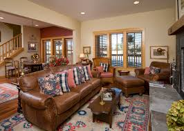 light brown leather couch Living Room Contemporary with living room
