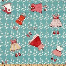 159 best Fun Fabric images on Pinterest   Quilting fabric, Sewing ... & REMNANT - Michael Miller - Children at Play by Sarah Jane- Just Stay Little  - Turquoise - Children's Novelty Fabric Adamdwight.com