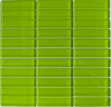 Bright Green Glass Subway Tile in Lemongrass | Modwalls Designer Lush 1x4  Tile