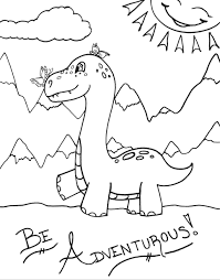 Simple dinosaurs coloring page to print and color for free. Dinosaur Coloring Pages Raising Smart Girls