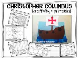 christopher columbus craftivity printables a cupcake for the  christopher columbus craftivity printables