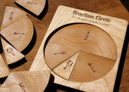Making Wooden Games fraction circle Inhabitots 45
