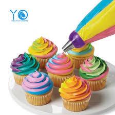 Tiga Warna Coupler Cake Decorating Alat Medium Cupcake Dekorasi Tip