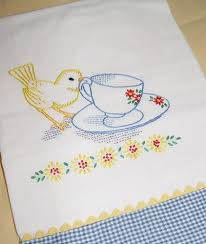 kitchen towel embroidery designs. sweet embroidered tea towel kitchen embroidery designs t