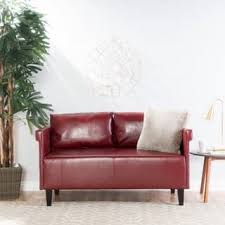 faux leather loveseat. Interesting Leather Bellerose Faux Leather Loveseat Settee Sofa By Christopher Knight Home Intended