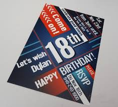 flyer for 18th birthday