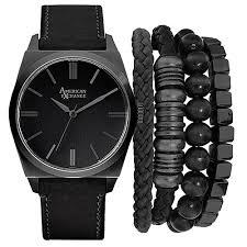 mens american exchange watch set mst5183bk100 362 boscov s mens american exchange watch set mst5183bk100 362