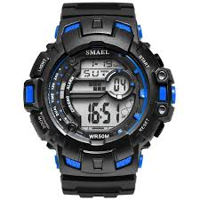 <b>LED Digital Wrsitwatches</b> SMAEL Army Green Clocks Men S Shock ...