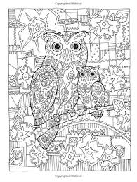 Small Picture Owls Creative Haven Dover Coloring Book