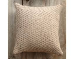 Chevron Knitting Pattern Interesting Chevron Felted Pillow Pattern Knit Lion Brand Yarn