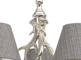 glentory silver metal antler chandelier tap to expand