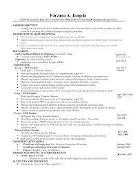 child care resume. Resume