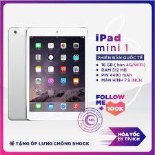 Máy Tính Bảng Ipad Mini 1 16gb 4g/wifi Zin Đẹp 99 Tặng Bao Gia | -  Hazomi.com - Mua Sắm Trực Tuyến Số 1 Việt Nam