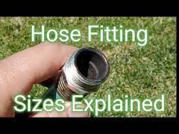 size of a standard garden hose fitting