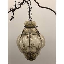 hand blown glass hanging lights vintage hand blown venetian glass large pear shaped venetian hanging lamp