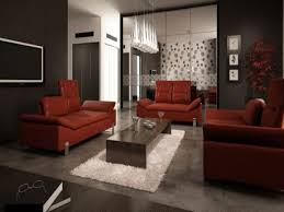red furniture ideas. Furniture. Dark Red Leather Sofa With Chrome Legs And Rectangle Brown Wooden Table On White Furniture Ideas E