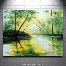 handpainted landscape oil painting impressionist art canvas painting abstract techniques large acrylic paintings home