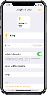Control lighting with iphone Dmx Change Information About Your Accessory On30info Set Up And Use The Home App Apple Support