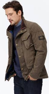 Joules Mens Lockhart Waxed Biker Style Jacket  Sand  Red Rae Country Style Wax Jacket