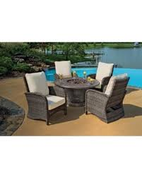 outdoor patio furniture sets with fire pit. 5-piece portico wicker patio chair and cast aluminum gas fire pit outdoor furniture set sets with n