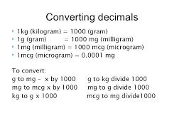 Conversion Chart Mg To G 45 Explanatory Milligram Chart