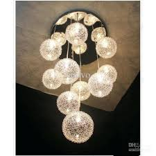 chandelier glass light clear glass with silver aluminium wire round hanging chandelier chandelier hanging glass