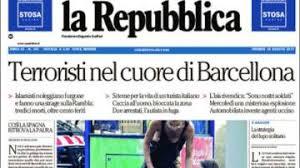 Resultado de imagen de prensa mundial atentado barcelona