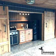 barn door kitchen cabinets sliding bout